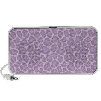 Girly Purple Leopard Pattern Doodle Speaker