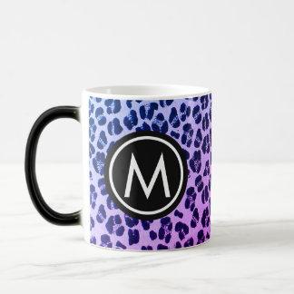 Girly Purple Leopard-Print White Coffee Mug