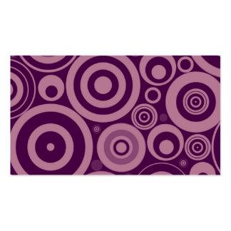 Girly Purple Retro Circles Pattern Business Card