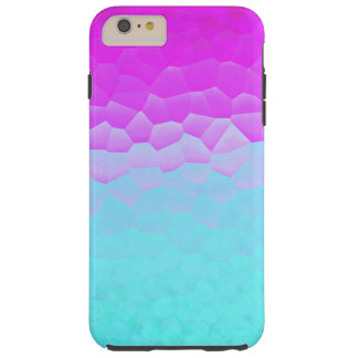 Girly Purple Turquoise Ombre Mosaic Bokeh Pattern Tough iPhone 6 Plus Case