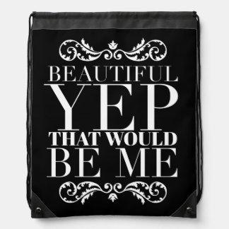 Girly Quotes Drawstring Bag