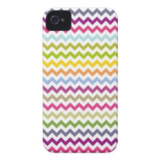 Girly Rainbow Chevron iPhone 4 Case-Mate Case