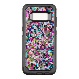 Girly Rainbow Faux Sequins Bling OtterBox Commuter Samsung Galaxy S8 Case