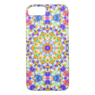 Girly Rainbow Retro Mod Flower Daisy Chain Pattern iPhone 7 Case