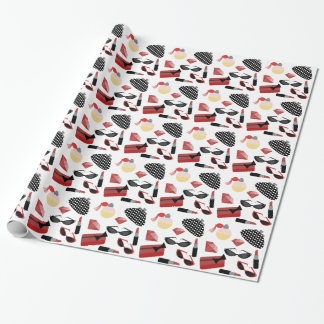 Girly Red Accessories Wrapping Paper
