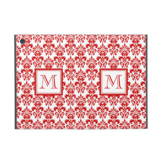 GIRLY RED DAMASK PATTERN 2 YOUR INITIAL iPad MINI COVER