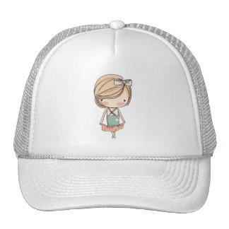 Girly Retro MOD Girl Ballerina Trucker Hat