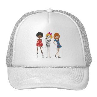 Girly Retro MOD Girl Trucker Hat