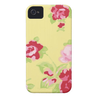Girly Retro Yellow Floral Case-Mate iPhone 4 Case