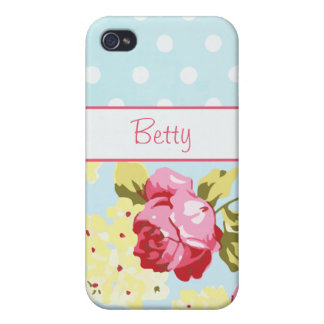 Girly Roses and Polka Dots iPhone 4/4S Cover