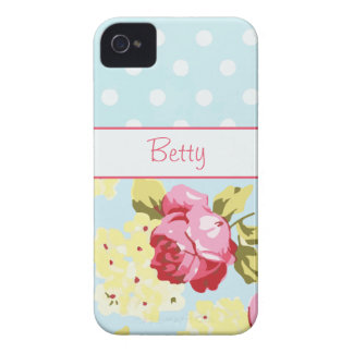 Girly Roses and Polka Dots iPhone 4 Covers