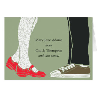 Girly Shoes & Sneakers Illustrated Wedding (Camo) Card