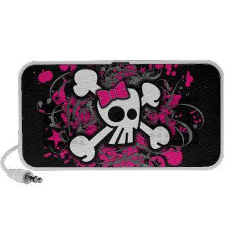 Girly Skull & Crossbones Doodle Speaker