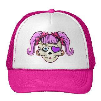 Girly Skull Design Cap