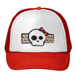 Girly skull mesh hat
