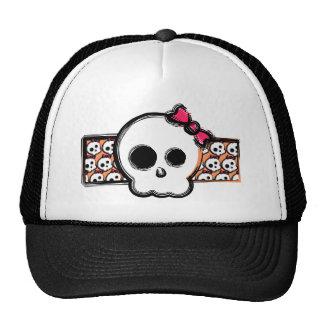 Girly skull hats