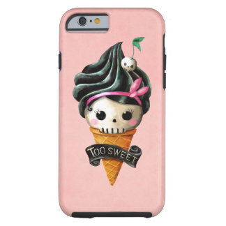 Girly Skull Ice Cream Cone Tough iPhone 6 Case
