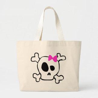 Girly skull jumbo tote bag