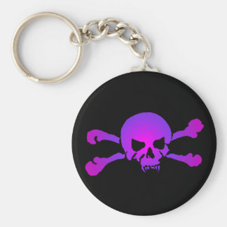 Girly Skull of the Undead Key Ring