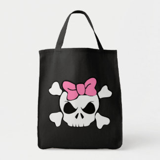 Girly skull pink bow