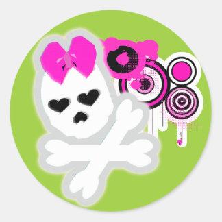 Girly SKull Sticker