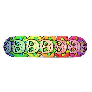 Girly Skull Totem Woody Skate Board