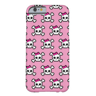 girly skulls and crossbones punk pattern barely there iPhone 6 case