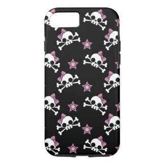 Girly Skulls with Stars iPhone 7 Case