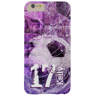 Girly Soccer Barely There iPhone 6 Plus Case