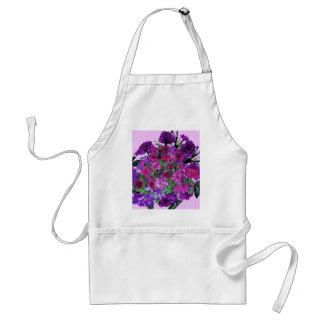 Girly Soft Lilac w Pretty Purple Flowers Apron Standard Apron