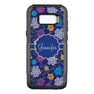 Girly Spring and Summer Wild Flowers, on blue name OtterBox Commuter Samsung Galaxy S8+ Case