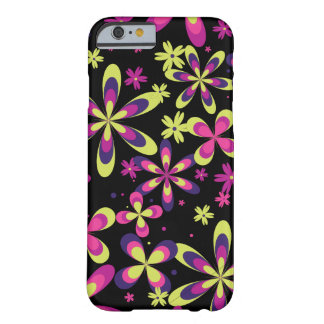 Girly Spring Floral Pattern Pink Yellow Flower Barely There iPhone 6 Case