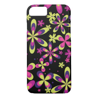 Girly Spring Floral Pattern Pink Yellow Flower iPhone 7 Case
