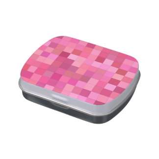 Girly squares candy tin