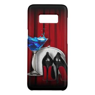 girly stilettos blue martini party girl modern Case-Mate samsung galaxy s8 case