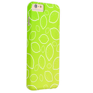 girly summer fresh green yellow lemon pattern barely there iPhone 6 plus case