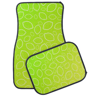 girly summer fresh green yellow lemon pattern car mat