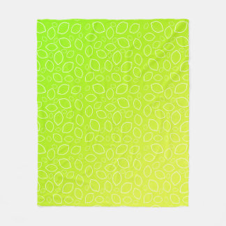 girly summer fresh green yellow lemon pattern fleece blanket