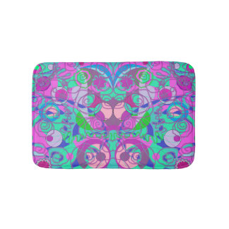girly swirls bathmat bath mats