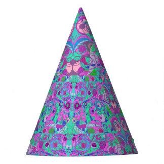girly swirls party hat