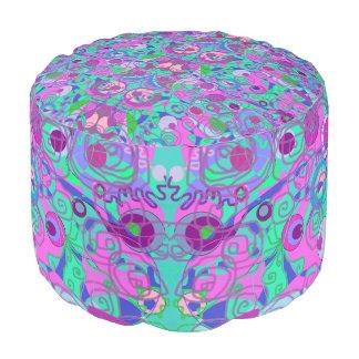 girly swirls pouf