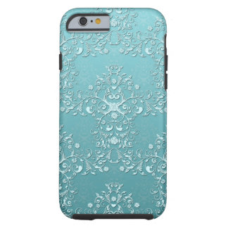 Girly Teal Damask Aqua iPhone 6 case