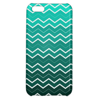 Girly Teal Ombre Chevron iPhone 5C Cover