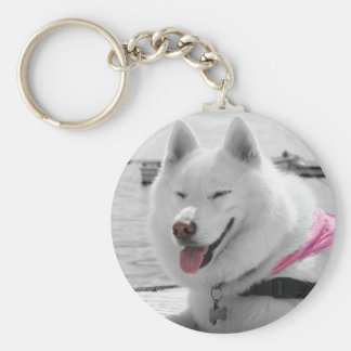 Girly Tehya Basic Round Button Key Ring