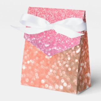 Girly Trend Rose Gold Blush Glitter Favour Box