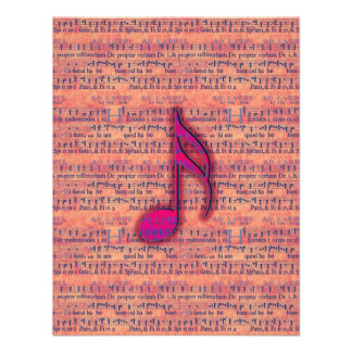 Girly Trendy Musical Note on Sheet Music Personalized Announcements