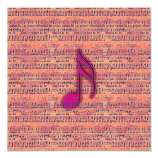 Girly Trendy Musical Note on Sheet Music Art Photo