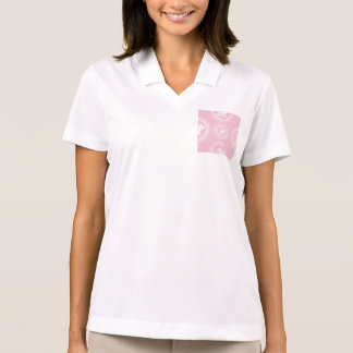 Girly,trendy,pink,roses,floral,pattern,modern,chic Polo T-shirts