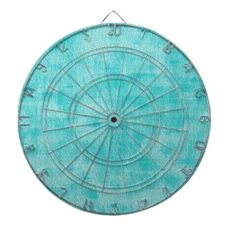 Girly Turquoise Watercolor Abstract Pattern Dartboards