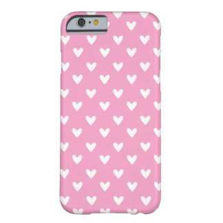 Girly Valentine Pink , Heart Pattern Phone Case